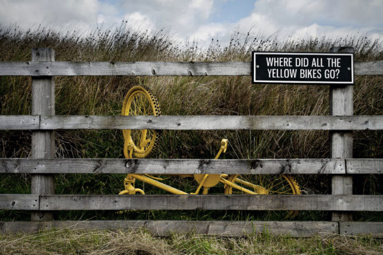 Where Did All The Yellow Bikes Go? limited edition Tour de France print