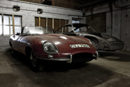 Jaguar E-Type and Porsche 912 limited edition print